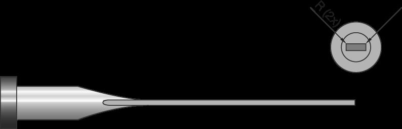 Espulsori temperati gambo corto con 2 angoli raggiati