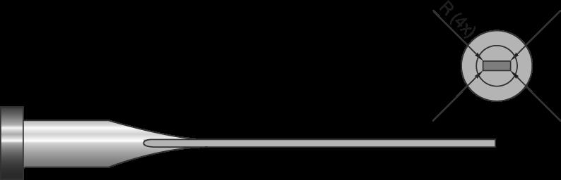 Espulsori temperati gambo corto con 4 angoli raggiati