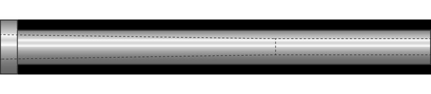 Cannocchiali in acciaio inossidabile nitrurati, scarico conico Rabourdin
