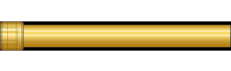 Lame di deviazione in ottone con filetto cilindrico