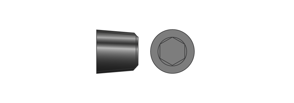 Grani gas conici in acciaio