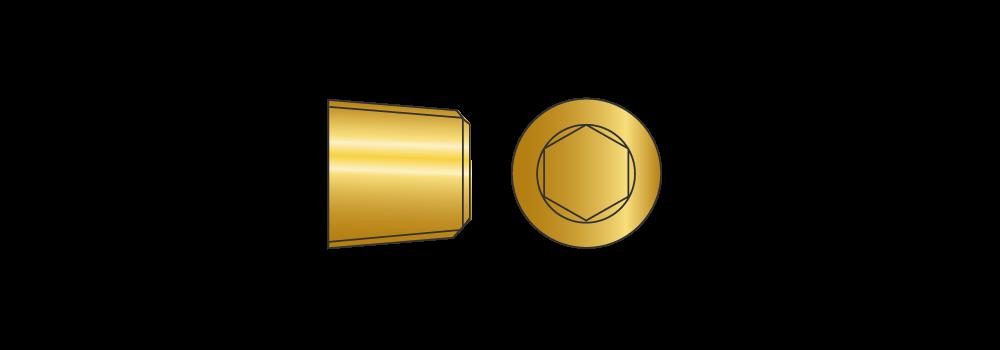 Grani gas conici in ottone