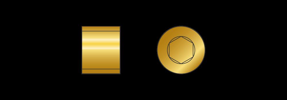 Grani gas cilindrici in ottone