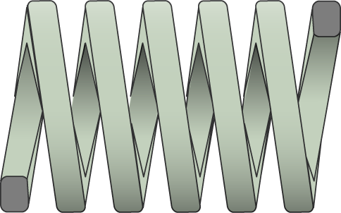 Molle filo rettangolare carico extra leggero