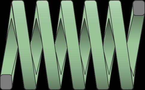 Molle filo rettangolare carico leggero