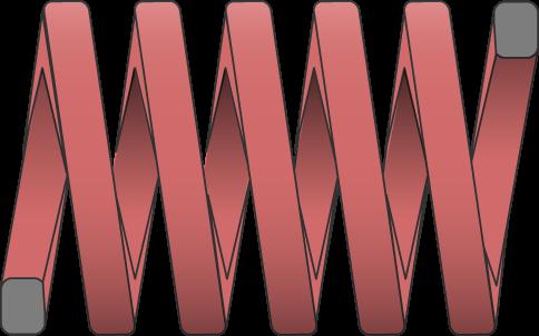 Molle filo rettangolare carico forte