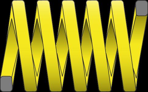 Molle filo rettangolare carico extra forte