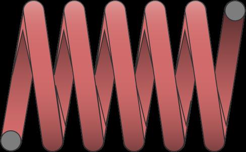Molle filo tondo carico forte
