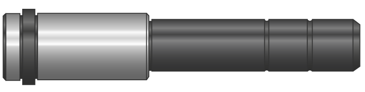 Colonne spallate a due diametri rivestite DLC
