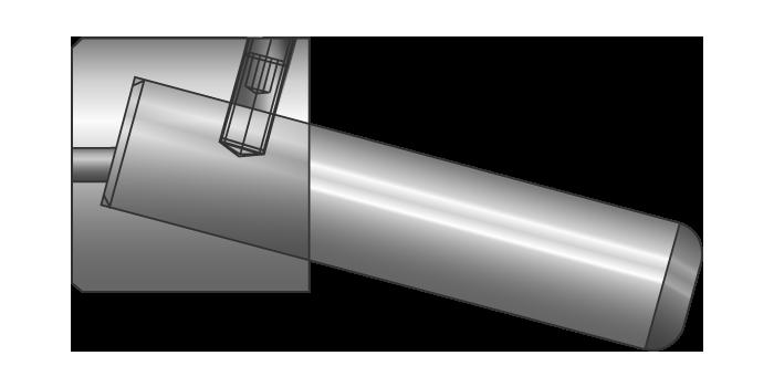 Colonna inclinata per carrelli