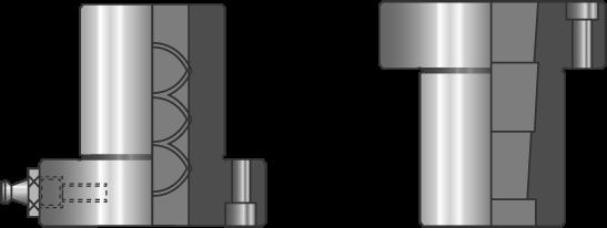 Bussole con collare cilindriche e coniche