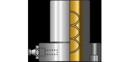 Bussole con collare cilindriche camicia in Bronzo